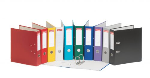 Esselte Essential Lever Arch File Polypropylene A4 75mm Spine Width Assorted (Pack 20)