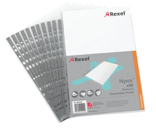 Rexel Nyrex Premium Top Opening Pocket A4 (Pack of 50) 2001018