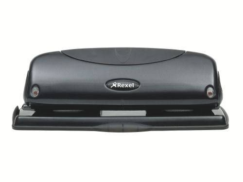 Rexel Precision P425 4 Hole Punch Black 2100755