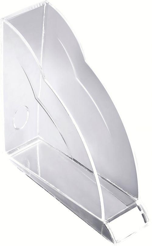 Rexel Nimbus Acrylic Magazine Rack Tranz Clear - Outer carton of 6
