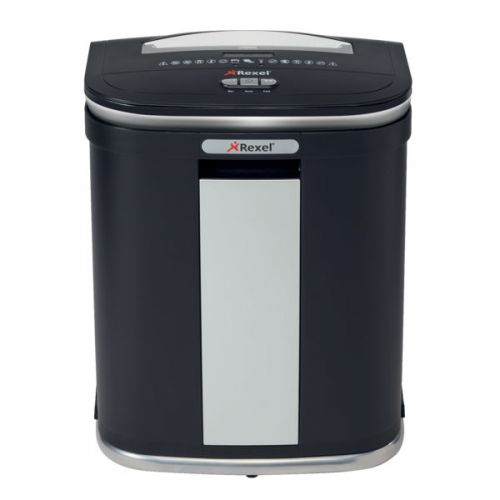 Rexel Mercury RSM1130 Manual Micro Cut Shredder for Small Office Use, 11 sheet capacity, 30L Bin, Includes Shredder Oil Sheets, Black