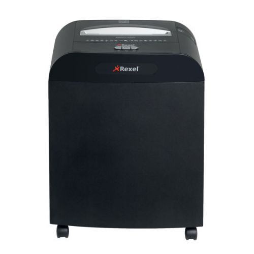 Rexel Mercury RDSM750 Super Micro Cut Paper Shredder, 7 sheet capacity, 50L Bin, P6, Black