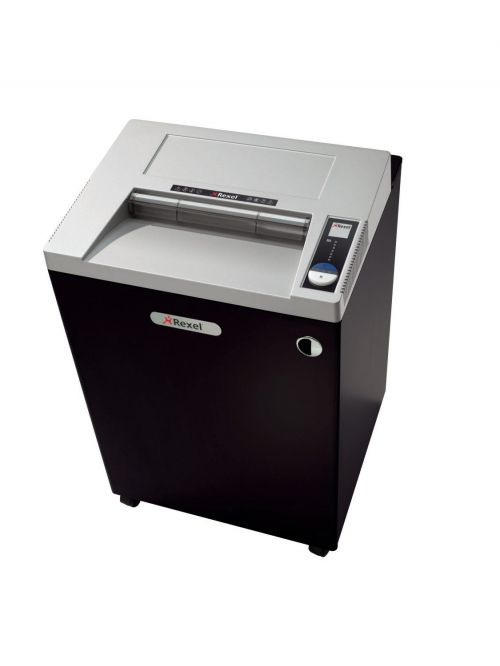 Rexel RLWX25 Wide Entry Cross-Cut Shredder Black 2103025