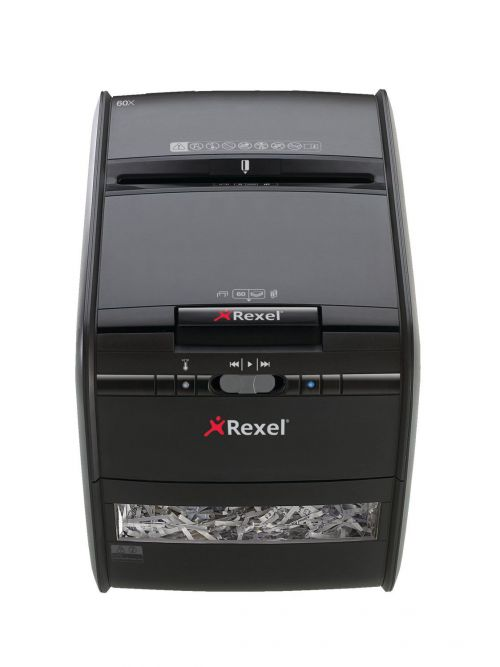 Rexel Auto+ 60X Cross Cut Shredder Black (Shreds up to 60 sheets of paper security level 3) 2103060
