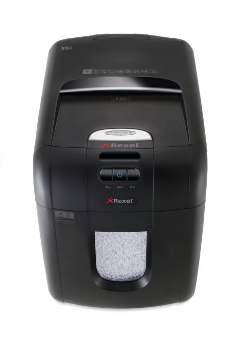 Rexel Auto Plus 130M Micro Cut Shredder (Shreds up to 130 sheets of 80gsm paper) 2104100A