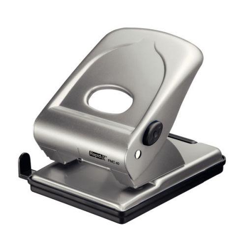 Rapid Fashion Powerful Metal Hole Punch FMC40 Brilliant Silver