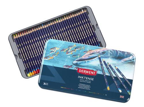 Derwent Inktense Pencils 36 Tin - Outer carton of 2