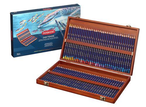 Derwent Inktense Pencils (72 Wooden Box)