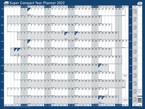 Sasco Year Planner Super Compact Unmounted 2022 2410155