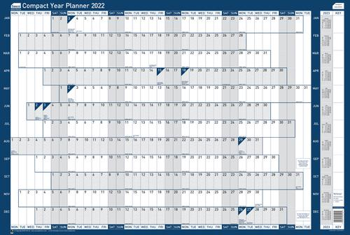 Sasco Year Planner Compact Landscape 2022 2410158