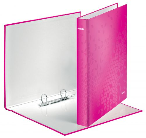 Leitz Wow Ringbinder A4 2Dr 25mm Pink