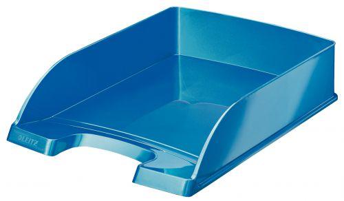 Leitz WOW Letter Tray A4 - Metallic Blue - Outer carton of 5