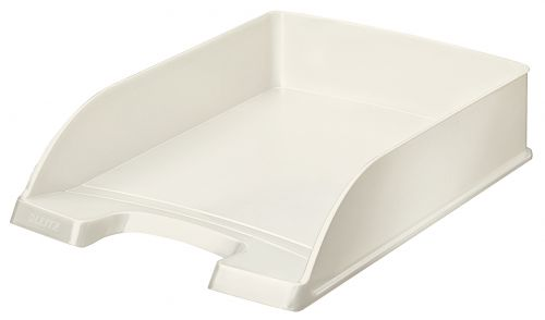 Leitz WOW Letter Tray A4 - Pearl White - Outer carton of 5