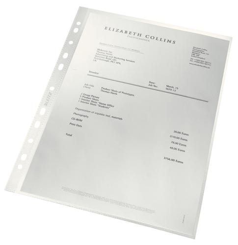 Leitz Recycled Punched Pockets A4 90M Pack 100