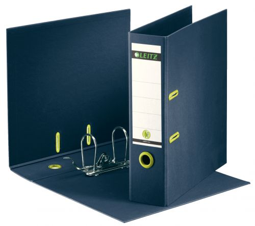 Leitz 180 Recycled Lever Arch File A4 85mm Dark Blue PK10
