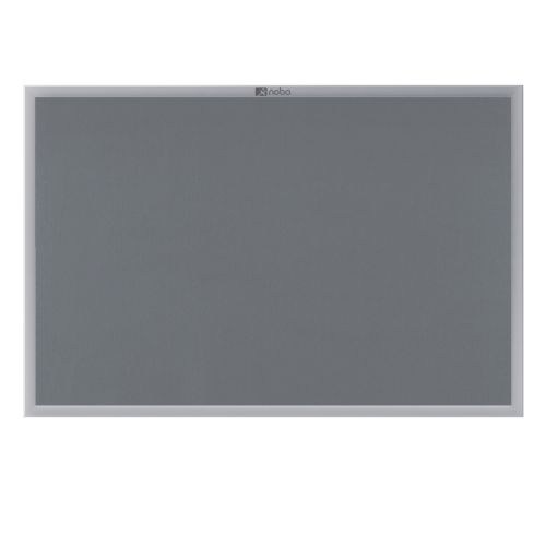 Nobo Europlus Felt Noticeboard with Fixings and Aluminium Frame W900xH600mm Grey Ref 30230157