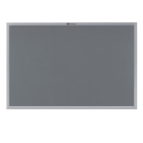 Nobo EuroPlus Grey Noticeboard with Fixings/Frame 1200x900mm 30230158