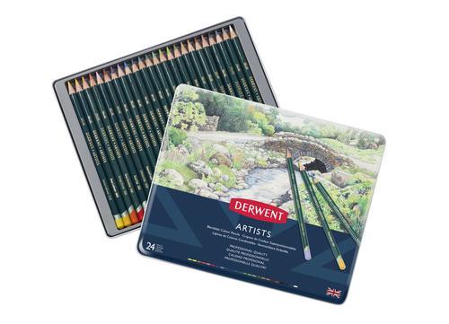 Derwent Artists Pencils 24 Tin - Outer carton of 3