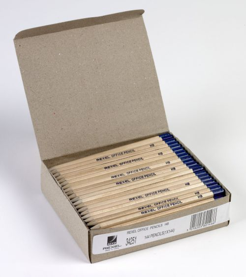 Rexel Office HB Pencil Natural Wood (Pack of 144) 34251