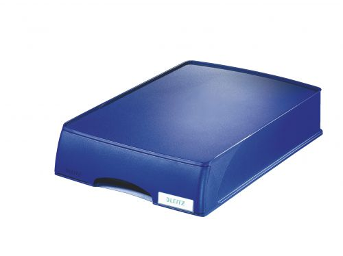 Leitz Plus Letter Tray Drawer Unit A4 - Blue - Outer carton of 4