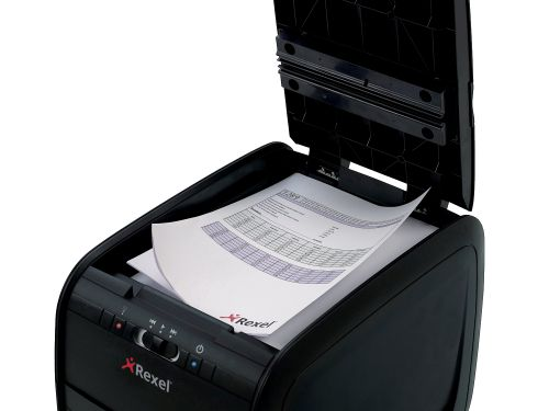 Rexel Auto+ 60X Cross Cut Shredder Black (Shreds up to 60 sheets of paper, security level 3) 2103060