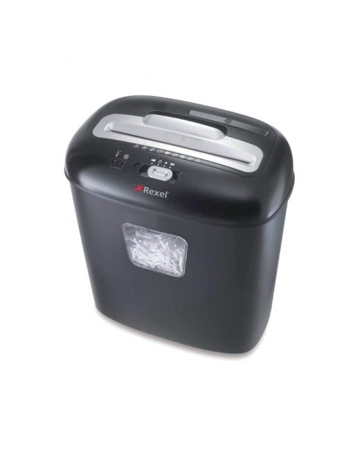 Rexel DUO Manual Cross Cut Shredder for Home or Small Office Use, 10 sheet capacity, 17L Bin, Includes Shredder Oil Sheets, Black