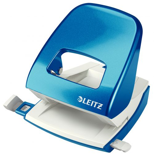 Leitz NeXXt WOW Metal Office Hole Punch - Metallic Blue