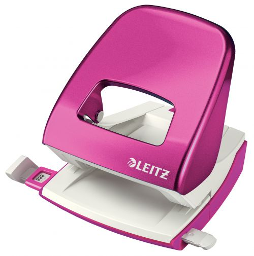 Leitz NeXXt WOW Metal Two Hole Punch 30 Sheet Pink 50081023