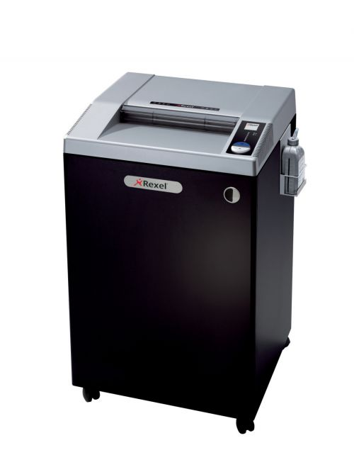 Rexel Wide Entry RLWX39 Cross Cut Paper Shredder,  39 Sheet capacity, with Intelligent Power Save (Pull Out Frame for 225L Bags), P4, Black