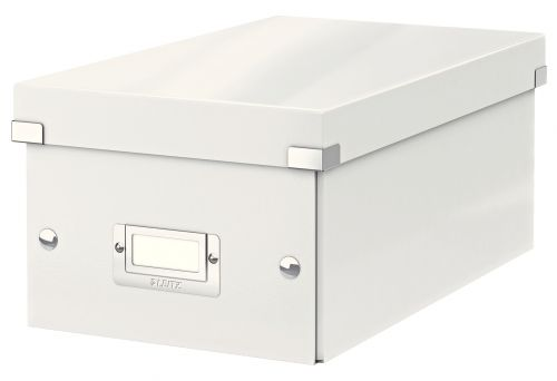 Leitz WOW Click & Store DVD Storage Box. With label holder. White