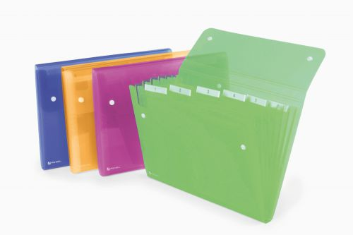 Rexel ICE Expanding File Assorted Colours ( 6 Pockets, 120 Sheets) - Outer carton of 10