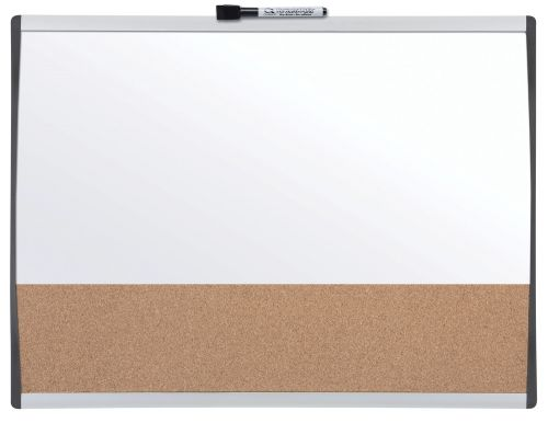 Nobo Combination Board Cork/Magnetic Whiteboard Arched Frame 585x430mm