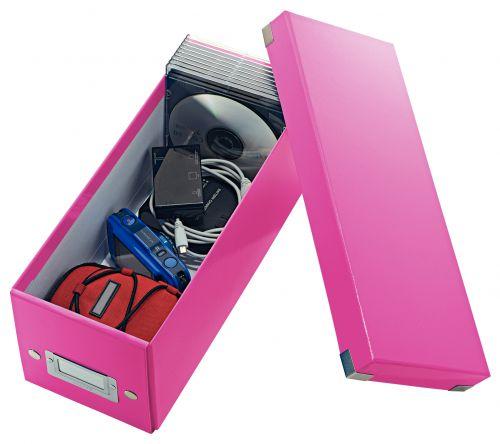 Leitz Click & Store CD Storage Box Pink 124w x 320d x 127hmm CD/DVD Storage AS1566