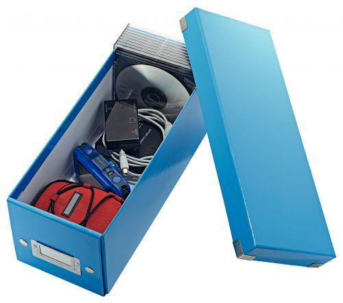 Leitz Click & Store CD Storage Box Blue 124w x 320d x 127hmm CD/DVD Storage AS1565