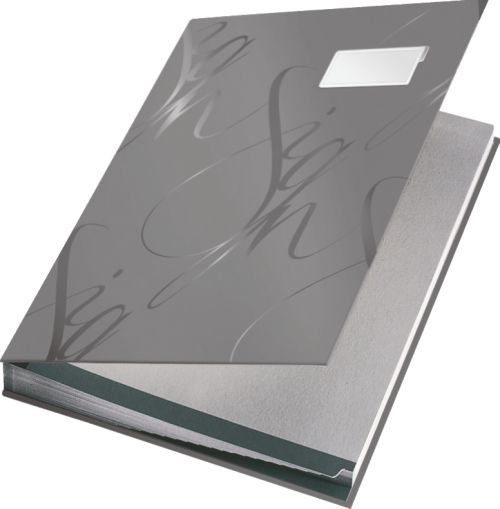Leitz Design Signature Book with 18 Card Dividers A4 - Grey