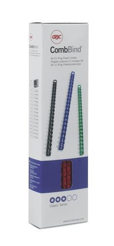 GBC Binding Combs 21 Ring A4 8mm Black 4028174 (PK100)