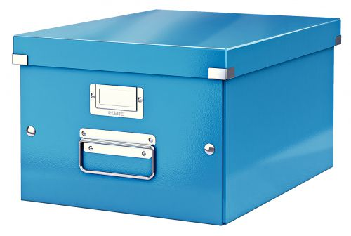 Leitz WOW Click and Store A4 Medium Storage Box For A4 Blue 60440036
