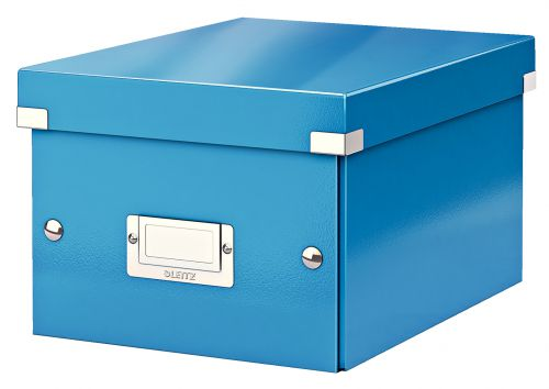 Leitz WOW Click & Store Small Storage Box.  With label holder. Blue.