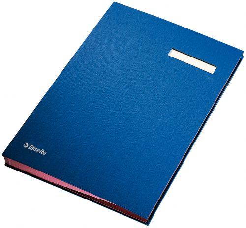 Esselte Signature Book 20 Compartments Blue