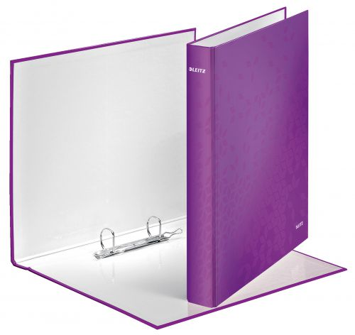 Leitz WOW Laminated Ring Binder A4 25 mm 2 D-Ring Purple - Outer carton of 10