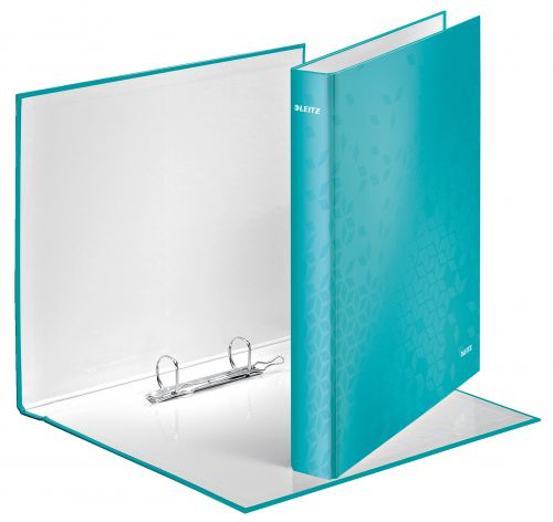 Leitz WOW Ring Binder A4+ 25mm Ice Blue 42410051