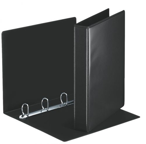 Esselte Essentials Presentation Ring Binder Polypropylene 4 D-Ring A4 30mm Rings Black (Pack 10) 49717