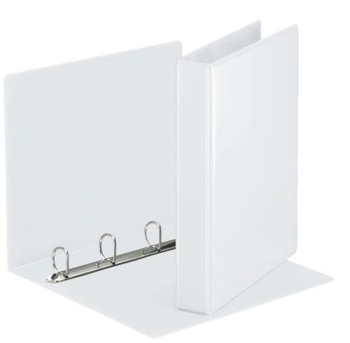 Esselte Essentials Presentation Ring Binder Polypropylene 4 D-Ring A4 30mm Rings White (Pack 10) 49703