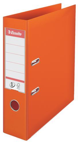 Esselte No.1 Lever Arch File Polypropylene, A4, 75 mm, Orange - Outer carton of 10