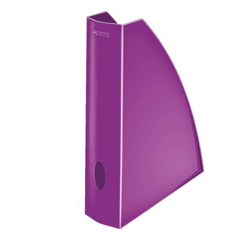 Leitz WOW Magazine File Purple A4