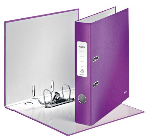 Leitz 180° WOW Lever Arch File A4 50mm Purple - Outer carton of 10