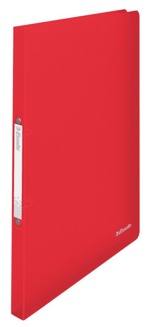 Esselte VIVIDA A4 2.50mm Spine Polypropylene Translucent Ring Binder - Red - Outer carton of 10