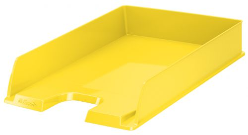 Esselte Vivida Letter Tray - Yellow - Outer carton of 10