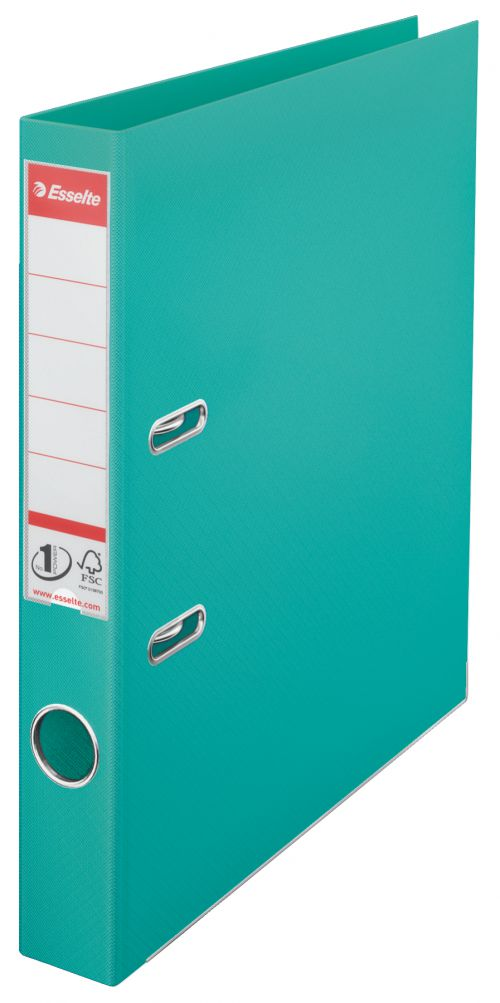 Esselte No.1 Lever Arch File Polypropylene Turquoise - Outer carton of 10