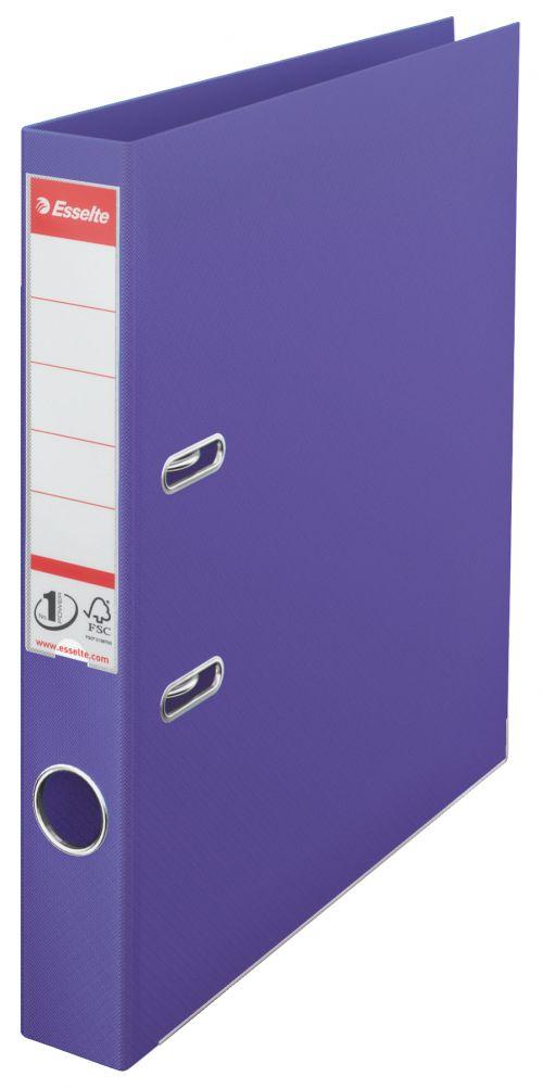 Esselte No.1 Lever Arch File Polypropylene A4 50mm Spine Width Violet (Pack 10)